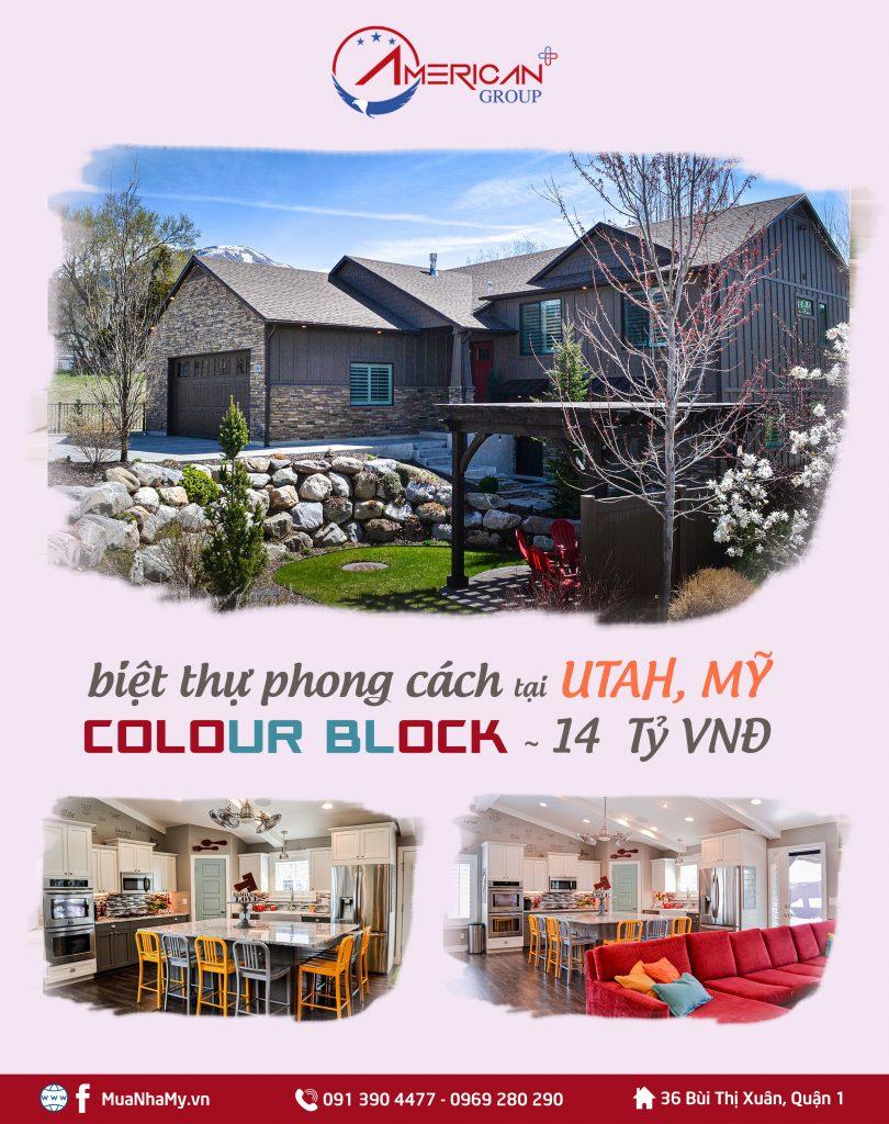 Ngoi Nha Sac Mau Tai Utah 14 Ty Vnd