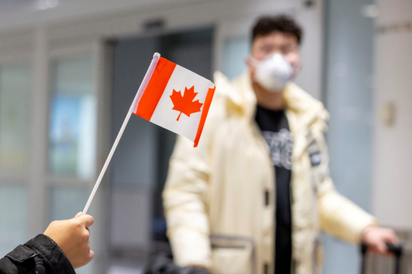 File Photo: Travellers Wearing Masks Arrive At Pearson Airport In Toronto