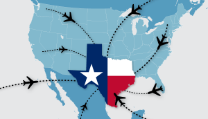 Usa Map Traveling To Texas 2021 Apg